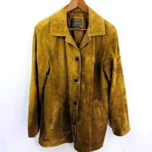 Brandon Thomas womens SZ M suede jacket